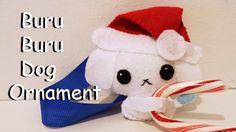 How to Make a Buru Buru Dog Holiday Ornament plushie tutorial
