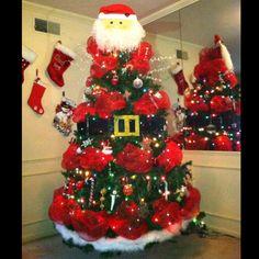 Santa tree by Carla B