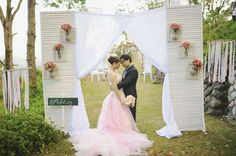 A sea of pinks and pretty details painted a romantic ambiance at the couple's garden wedding in Batangas. Wedding Gallery, Wedding Photos, Pink Ombre Cake, Batangas, Pink Palette, Wedding Inspiration, Wedding Ideas, Pink Gowns, Ceremony Decorations