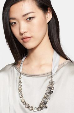 Fabiana Filippi Beaded Cluster Necklace available at #Nordstrom