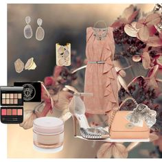 Peach & Grey by seidsonstephens on Polyvore featuring мода, BCBGMAXAZRIA, Mulberry, Futabaya and Bobbi Brown…