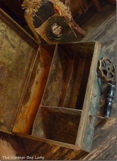 Rusty metal box