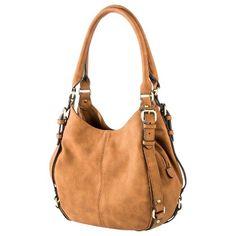 Women's Merona® Timeless Collection Large Hobo Handbag - Brown or Berry Mix color or Blue foil Tan Handbags, Hobo Handbags, Purses And Handbags, Leather Handbags, Hobo Purses, Stylish Handbags, Handbags Online, Fru Fru, Moda Fashion