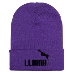 Llama Embroidered Knit Cap