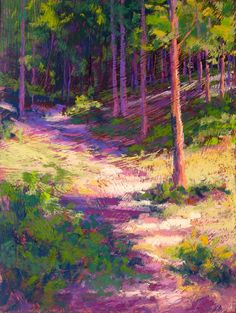 Drawn into the Woods, pastel- Charles Peer.