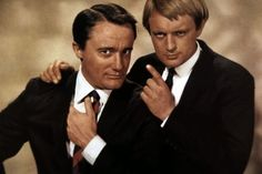 Robert Vaughn & David McCallum, Man From Uncle -check out Ducky from N.C.I.S. the blond
