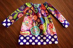 Girls Long Sleeve Dress by JustSimpleKindness on Etsy, $30.00