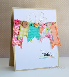 Embellishments! Card making make a wish by Virginia L., via Flickr