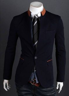 Saco traje azul oscuro