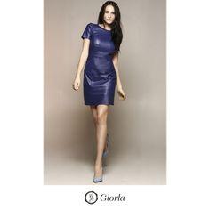 Vestido com detalhes vazados | Referência: 1029. #couro #leather #weloveleather #giorlamodaemcouro