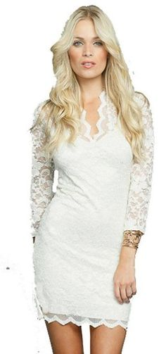 Amazon.com: John Zack, Sophisticated Lace V-Neck Dress, Mini Dress, Cocktail Dress: Clothing $50