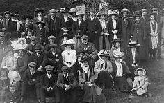 Old photograph of a Sunday picnic in Perth, Perthshire, Scotland