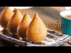 Coxinha de frango - Receitas Zaffari - YouTube Tapas, Portuguese Recipes, Diy Food, Carne, Sweet Potato, Goodies, Food And Drink, Appetizers, Cooking Recipes