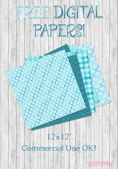 Free digital scrapbooking papers from The Friendly Flamingo, for subscribers.