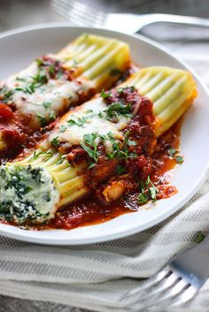 Spinach and Three-Cheese Manicotti, because sometimes, all you want is pasta.