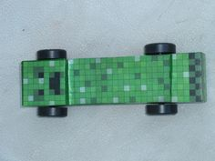 Minecraft Creeper Pinewood Derby Car.