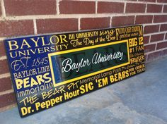Baylor Bears Subway Art Baylor Sign by DowntownShabby on Etsy, $65.00
