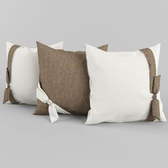 bow on pillows!