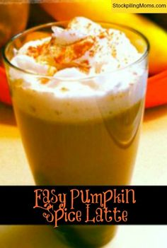 Easy-Pumpkin-Spice-Latte-final~~Ingredients~ ½ cup whole milk~ 1 tablespoon unsweetened canned pumpkin puree~ 1 teaspoon packed light brown sugar~ ¼ teaspoon pumpkin pie spice~ 1 teaspoon vanilla extract~ 1 cup hot brewed, strong coffee~ 2 tablespoons half & half cream~ 1 teaspoon granulated white sugar, or more to taste~ whipped cream, optional~ ground nutmeg~