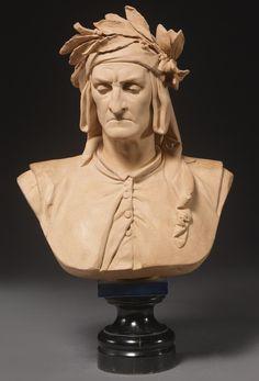 Dante Alighieri --France, A sculpture by Albert-Ernest Carrier-Belleuse . Dante Alighieri, Rennaissance Art, Sculpture Head, French Sculptor, Academic Art, High Art, Les Oeuvres, Art Reference, Sculpting