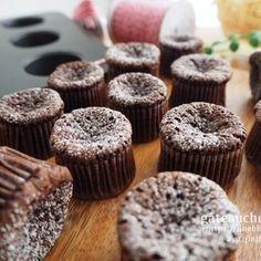 《小さな小さな濃厚ガトーショコラ》 in 2020 Japanese Bakery, Japanese Sweets, Japanese Food, Sweets Recipes, Cooking Recipes, Bakery Packaging, Sweets Cake, Cafe Food, Desert Recipes