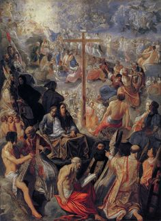 """The message of the cross is foolishness to those who are perishing, but to us who are being saved it is the power of God."" a Corinthians 1:18 // The Altarpiece of the Exaltation of the True Cross (central panel) Retablo de la Exaltación de la Verdadera Cruz  // 1603–1605 // Adam Elsheimer // Städel Museum"