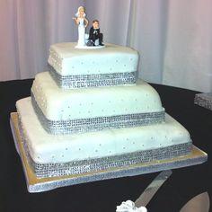 4 tier Fondant bling border cake  Cake kouture by Char Denver co
