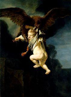 Ganymed in den Fängen des Adlers; 1635; Rembrandt