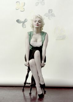 """lauralftn: """" Marilyn Monroe photographed by Milton Greene, 1955. """""""