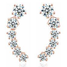 1 par argent plaqué or élément étoiles boucles d'oreilles en cristal crochet d'oreille pour les femmes fille boucles d'oreilles meilleur cadeau beaux bijoux CS11(China (Mainland))