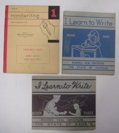 Student worksheets   printouts for handwriting practice  Print and     Vtg 1940s Lot 3 HANDWRITING BOOKS School Primer Printing Cursive Workbook  Kansas