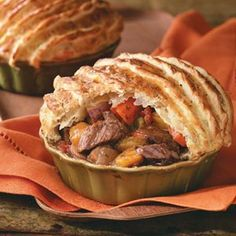 Herbed Beef Stew with Puff Pastry Recipe from Taste of Home brought to you by our friends at Physicians Mutual