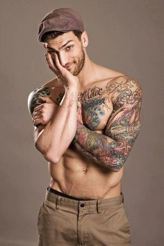 A beard and tattoos what more can you ask for?