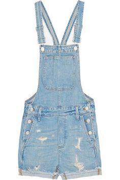 Distressed denim overalls #allinone #offduty #covetme #madewell