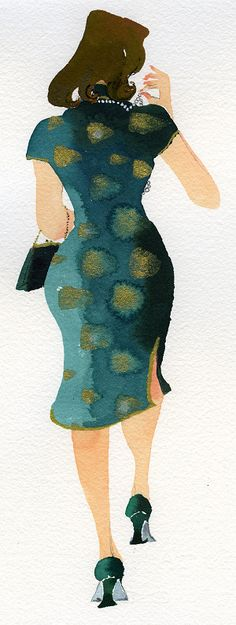 back of woman - Meilo So Illustrations