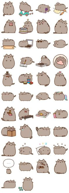 O mais engraçado adesivos para Facebook Messenger 7 Pusheen Cute, How To Draw Pusheen, Pusheen Stuff, Anime Stickers, Unicorn Stickers, Cat Stickers, Free Stickers, Kawaii Stickers, Cute Cats
