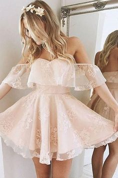 A-Line Homecoming Dress,Lace Prom Dress Short Prom Dresses,Short Pearl Pink Homecoming Dress,Lace Homecoming Dresses,short prom dress Lace Homecoming Dresses, Hoco Dresses, Dance Dresses, Wedding Dresses, Flower Dresses, Junior Prom Dresses Short, Quinceanera Dresses, Dress Outfits, Lace Wedding