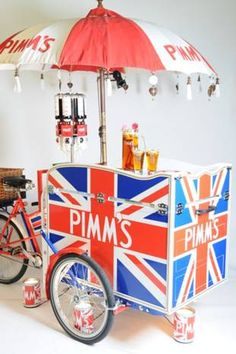 the pimm's tricycle got me thinking that there should be a few stands for certain types of food - a more sophisticated but quirky buffet perhaps