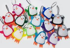Would it be wrong to have nothing but penguin ornaments on your tree? Felt Penguin, Penguin Love, Felt Christmas, Christmas Time, Christmas Crafts, Penguin Ornaments, Xmas Ornaments, Felt Crafts, Diy Crafts