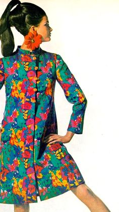 Rajah coat by Bill Blass for Maurice Rentner Vintage fashion Sixties Fashion, Mod Fashion, Trendy Fashion, Vintage Fashion, Fashion Tips, Fashion Design, Dress Fashion, Sporty Fashion, Fashion Women
