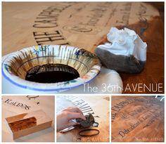DIY Tutorial: How to stencil furniture using vinyl. the36thavenue.com #stencil #DIY