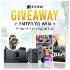INTO THE AM - Win a Nintendo Switch, Mario Kart 8 + Zelda BOTW - http://sweepstakesden.com/into-the-am-win-a-nintendo-switch-mario-kart-8-zelda-botw/
