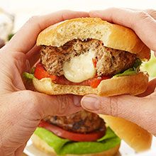 Add a bit of Italian flair with these original stuffed turkey burgers. A satisfying way to feed your family.