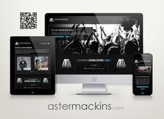 Aster Mackins Entertainment with their freshly updated logo and website design. Showcase Design, Aster, Web Design, Entertainment, Website, Logo, Logos, Logo Type, Design Web