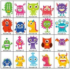 Little Boy's Monster Birthday Party Invitation Set (Set of - Additional Sets of 4 are 5 Dollars Monster Party, Felt Monster, Monster Birthday Parties, Theme Halloween, Disney Halloween, Halloween Halloween, Halloween Treats, Halloween Makeup, Halloween Decorations