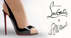 Allenissima Slingback Peep-toe Stiletto by MrAntonieddu at MA$ims4 via Sims 4 Updates