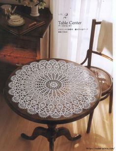 Crochet Knitting Handicraft: Table Center, large round doily