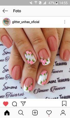 Tina's Nails, Glam Nails, Fancy Nails, Trendy Nails, Diy Pretty Nails, Cute Nails, Fingernail Designs, Cool Nail Designs, Beautiful Nail Art