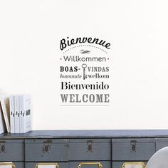 Bienvenue Wall Transfer now featured on Fab.