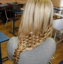 Easter Hairstyles, The Basket Weave Braid Love Hair, Gorgeous Hair, My Hair, Girl Hair, Unique Braids, Cool Braids, Crazy Braids, Amazing Braids, Fancy Braids